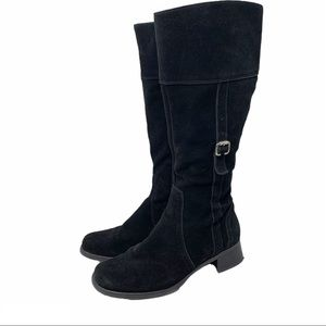 La Canadienne Tall Waterproof Suede Riding Boots